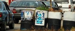 Straßensperre in der Stadt Warri im Nigerdelta in Nigeria
