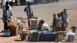 Straßenhändler in Mali